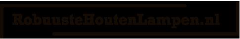 Robuuste Houten Lampen Logo